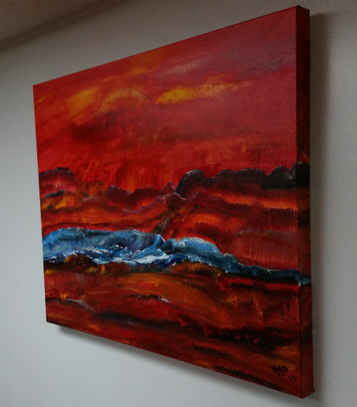 Orange Crush 24 x 30 in. - Original Acrylic Painting - $469.00 USD